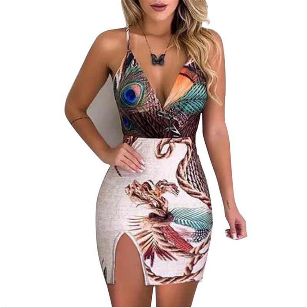 New Women Boho Floral Dress Sexy Ladies Sleeveless Bodycon Prom Evening Party Summer Beach Casual Long Sundress