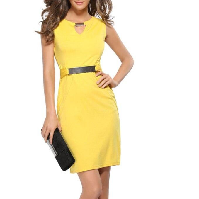 Fashion Dress Women Summer Dresses Ladies Casual Office Lady Black Girl Elegant Party Dress Vestidos 2019 Clothes