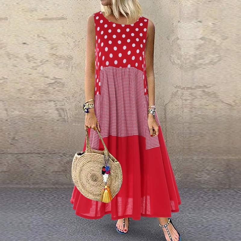 Women's Bohemian Ruffle Sundress 2020 ZANZEA Summer Sleeveless Floral Printed Maxi Long Dress Casual Loose Party Tanks Vestido