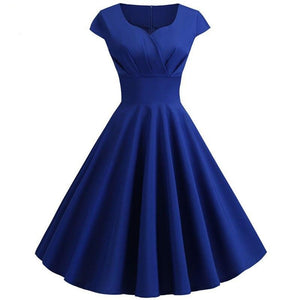 Pink Summer Dress Women V Neck Big Swing Vintage Dress Robe Femme Elegant Retro pin up Party Office Midi Dresses Plus Size