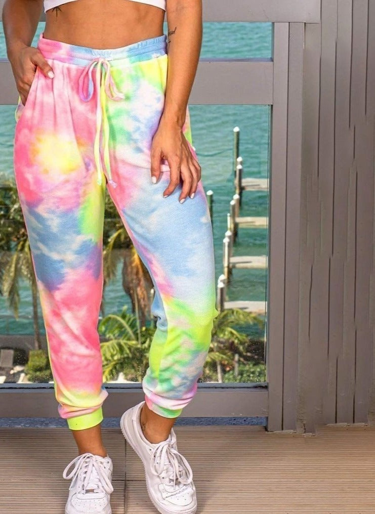 Tie Dye 3d Printed Sweatpants Fashion Harajuku Jogger Pants Colorful Psychedelic Track Pants Slim Streetwear Women Trousers#D3