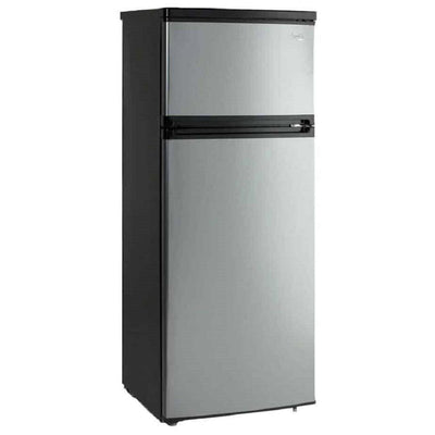Avanti 7.4 Cu. Ft. Two Door Apartment Size Refrigerator - Black w/Platinum Finish (5864292516005)