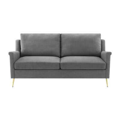 Apartment Sofa with Gold Legs, Grey (5864087716005)