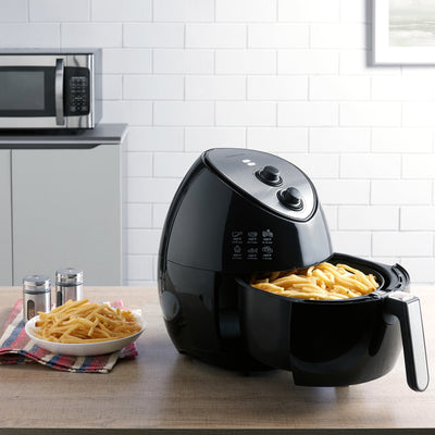 Farberware 3.2 Quart Oil-Less Multi-Functional Air Fryer, Black (5868514345125)
