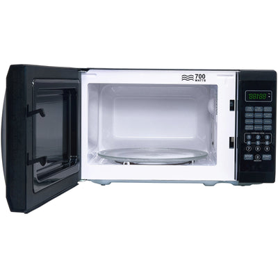 Mainstays 0.7 Cu. Ft. 700W Black Microwave with 10 Power Levels (5869198573733)