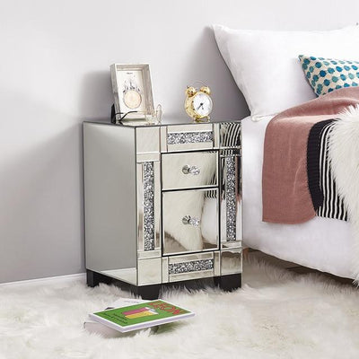 Panana Mirrored Bedside Cabinet/Nightstand (5859546431653)