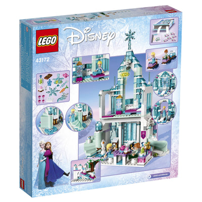 LEGO Disney Princess Elsa's Magical Ice Palace 43172 Frozen Castle Dollhouse Playset Building Toy with Anna, Olaf (701 pieces) (5857245135013)