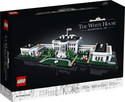 LEGO Architecture Collection: The White House 21054 Building Toy, for Kids and Adults (1,483 Pieces) (5857308836005)