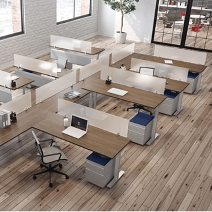Eight Person Sit-to-Stand Workstation