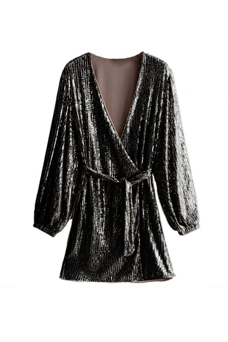 Exclusive black sequin dress - Evita - DennisMaglic.com