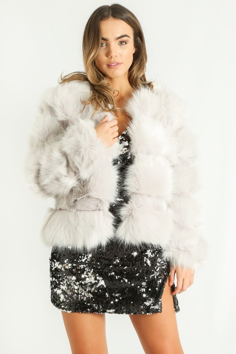 Light grey faux fur - Azzy - DennisMaglic.com