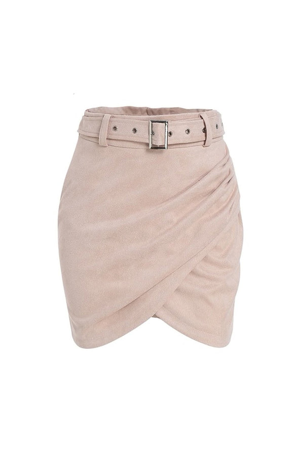 Skirt with suede effect - Wrap Suede - DennisMaglic.com