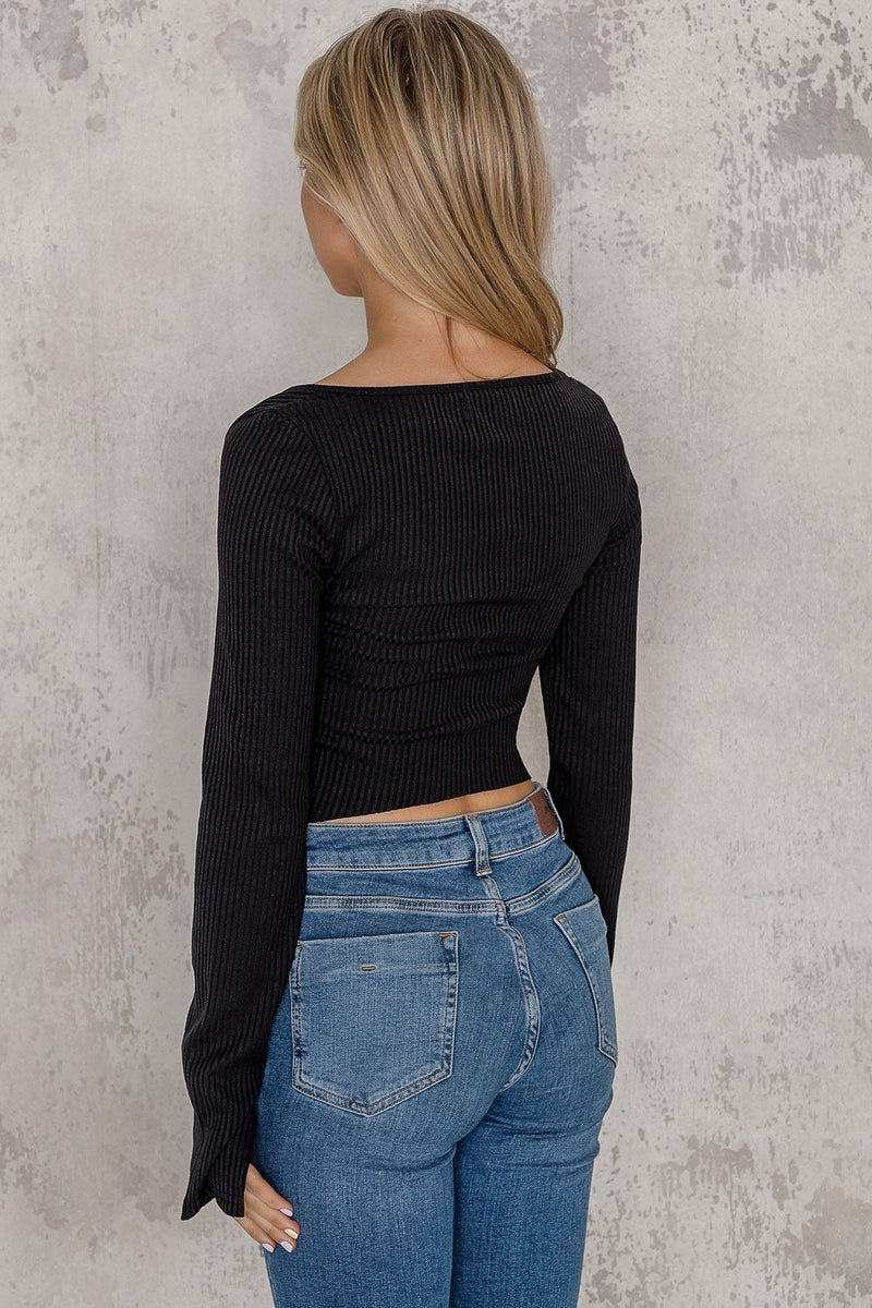 Black zip sweater - Kylie - DennisMaglic.com