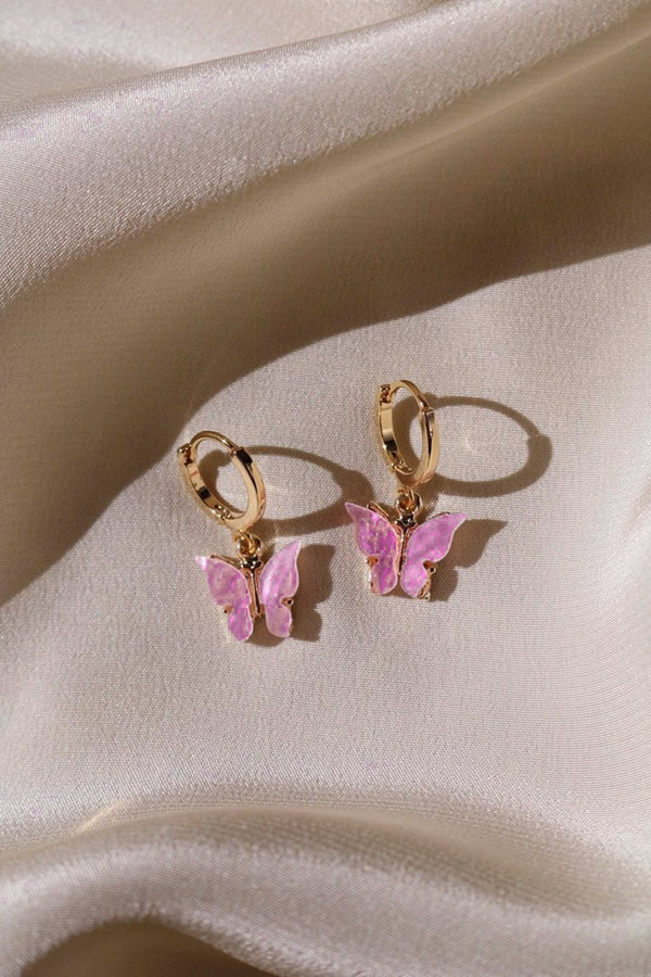 Butterfly Earrings - Dark Pink - DennisMaglic.com