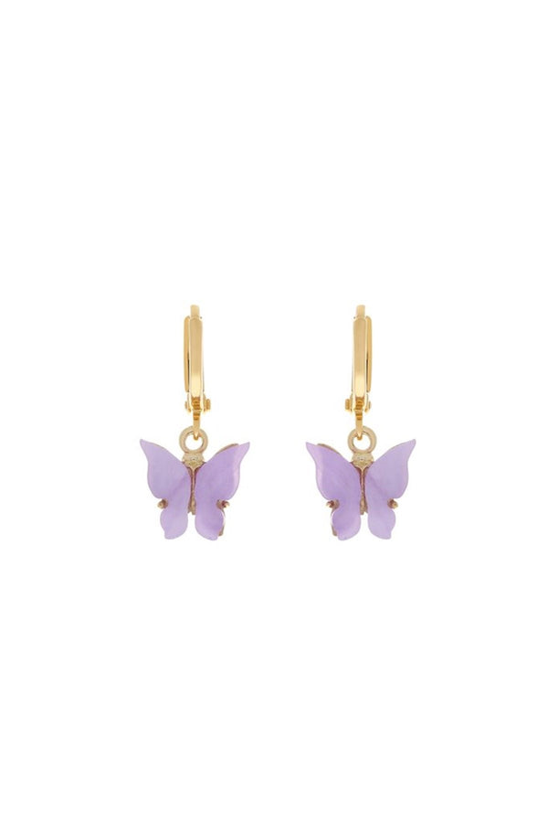 Butterfly Earrings - Lavender - DennisMaglic.com