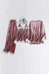 Three Piece Pajama Set - Pink - DennisMaglic.com