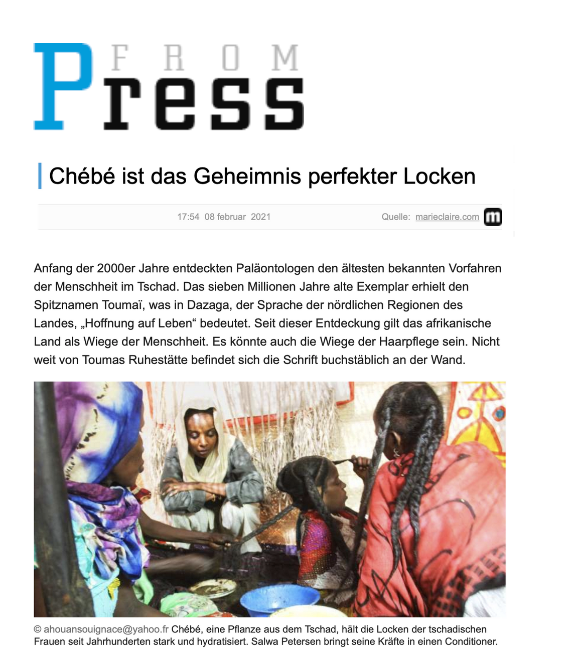 Germany - From Press 08.02.2021