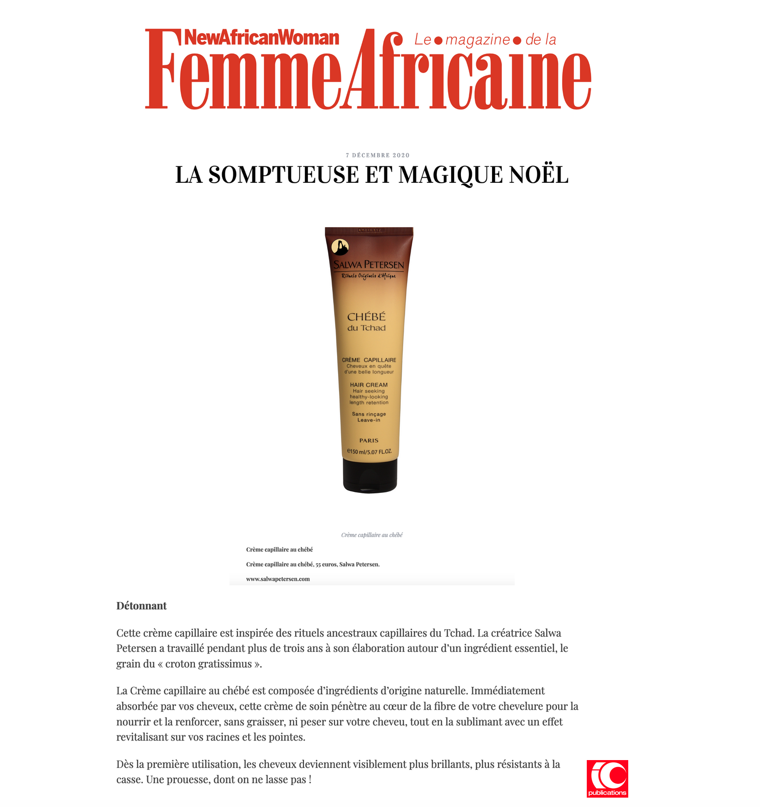 France- New African Woman 07.12.2020