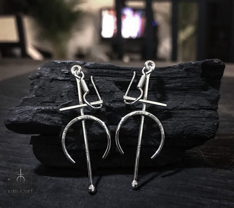 ARETES LARA CRAFT PLATA .925