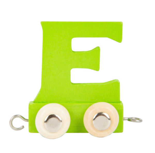 Coloured Train Letter E
