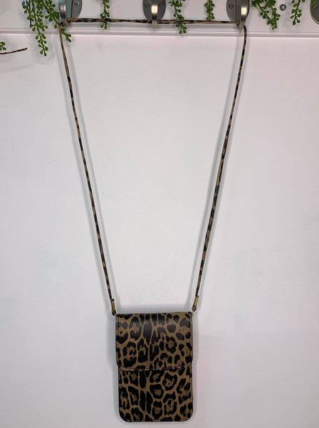 Brown Cheetah Phone Purse