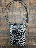 Black Leopard Print Phone Purse