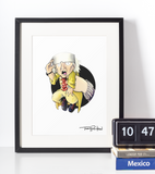 Doc Brown / Marty McFly Premium Art Print