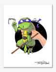 Donatello / April O'Neil Premium Art Print