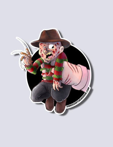 Freddy Krueger / Nancy Premium Vinyl Sticker