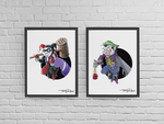 Joker / Batman Premium Art Print