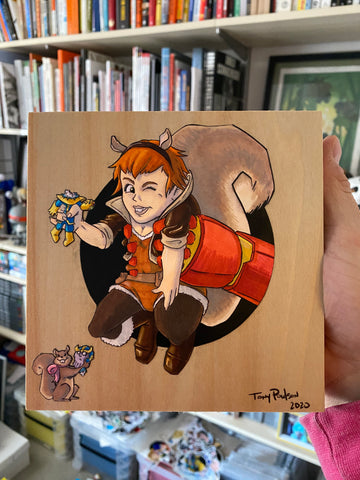 Squirrel Girl / Iron Man Original Art