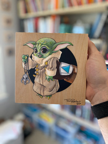 Baby Yoda (The Child) / Mando Original Art