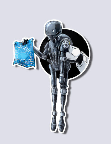 K-2SO / Storm Trooper Premium Vinyl Sticker