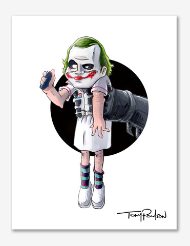 Nurse Joker / Batman Premium Art Print