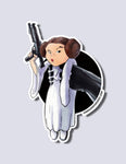 Princess Leia / Darth Vader Premium Vinyl Sticker