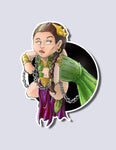 Slave Leia / Jabba the Hut Premium Vinyl Sticker