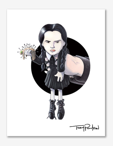 Wednesday / Fester Addams Premium Art Print