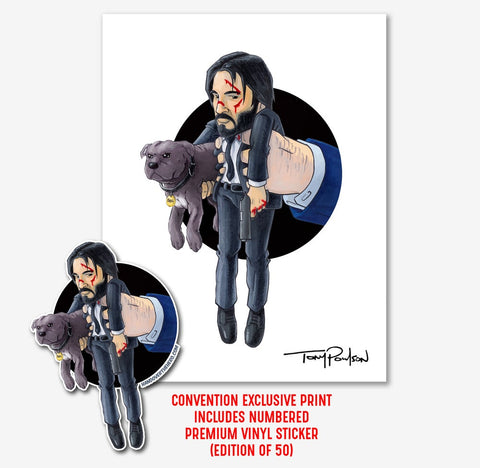 John Wick LIMITED EDITION Print + Sticker (Edition of only 50)