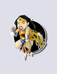 Wonder Woman / Cheetah Premium Vinyl Stickers