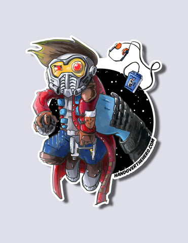 Star-Lord / Ronan Premium Vinyl Sticker