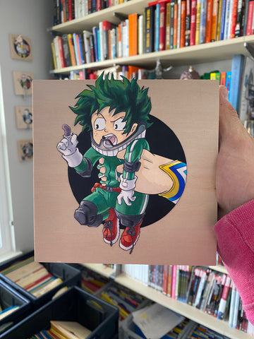 Deku / All Might Original Art