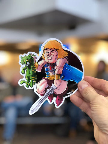 He-Man / Skeletor Vinyl Sticker