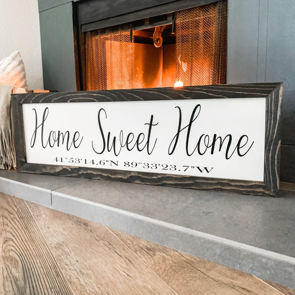 Home Sweet Home With Coordinates