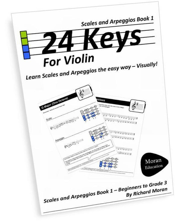 24 Keys for Violin Book 1 - Paperback Edition - Moran Education
