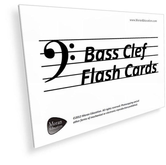 Bass Clef Flash Cards -  PDF - Moran Education