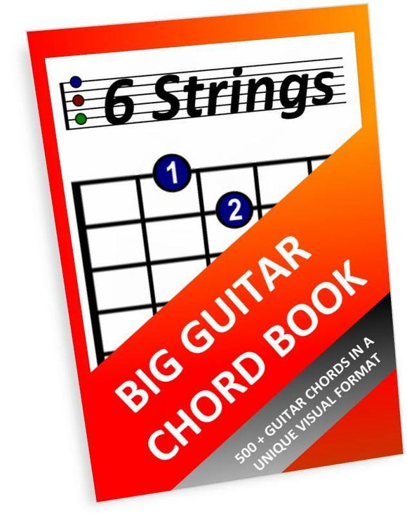 Big Guitar Chord Book - Paperback (6 Strings) - Moran Education