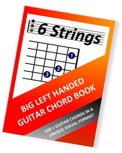 Big Left Handed Guitar Chord Book - PDF Edition (6 Strings) - Moran Education