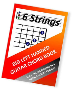 Big Left Handed Guitar Chord Book - Paperback (6 Strings) - Moran Education