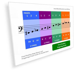 Double Bass Flash Cards -  PDF - Moran Education
