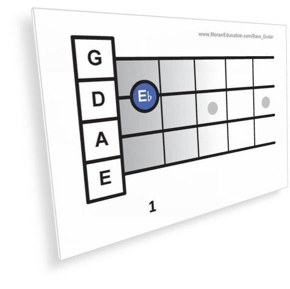 Bass Guitar Flash Cards -  PDF - Moran Education
